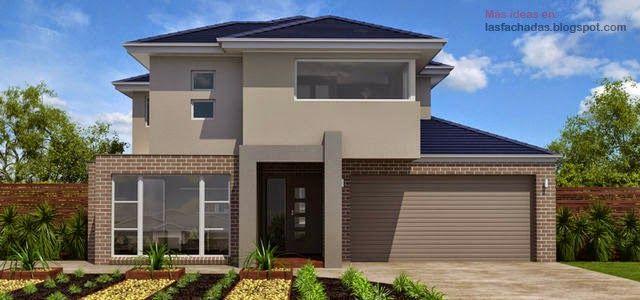 9 best fachadas de casas images on pinterest modern - Fachadas de casas clasicas ...