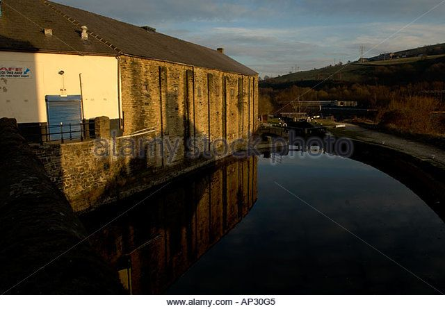 Sowerby bridge Northern Mill town  near Halifax west Yorkshire Uk England - Stock Image