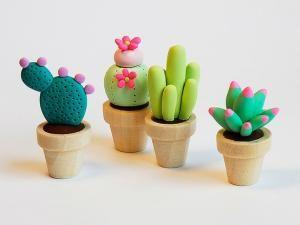 Créer des mini-plantes en pâte Fimo - par Idee Creative