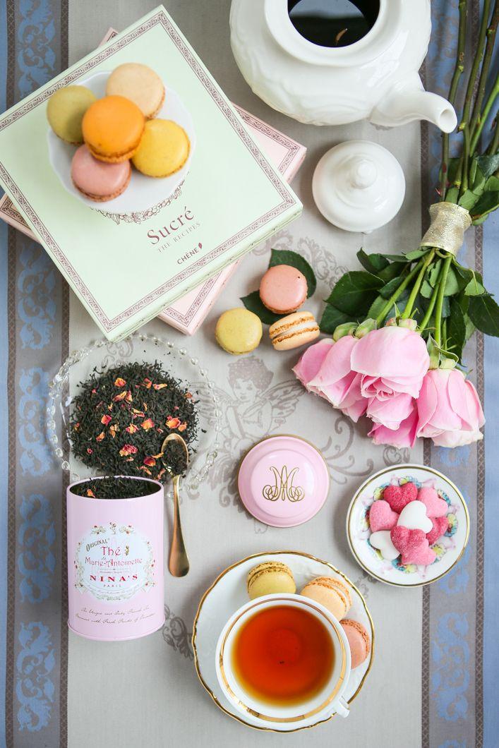 "Nina's Thé de Marie Antoinette: ""Ceylon black tea with flavors of apples and roses"""