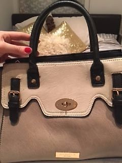 Like new - only worn once - Carvela handbag. beige, cream and black. very smart - perfect for work | eBay!