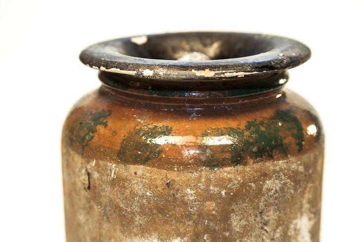 Albarella con coperchio-terracotta invetriata- Fratte Rosa (PU) produzione prima del 1945. Particolare #fratterosa #terracotta #ceramica #concorso #unmuseochecresce
