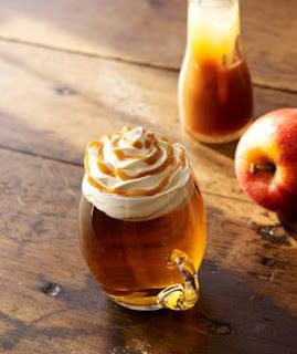 Starbucks Caramel Apple Spice- this is my FAVORITE in the fall/winter. :)