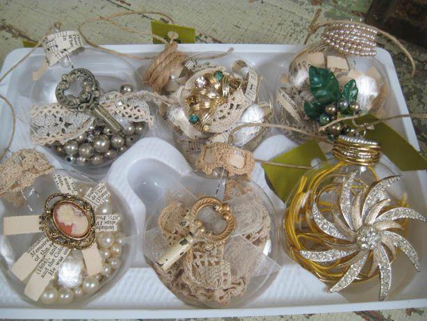 Treasure filled memories Christmas ornaments