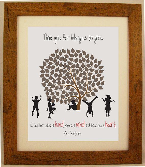 Personalised Teacher Appreciation Word Art Gift by ArtyAlphabet, £7.50