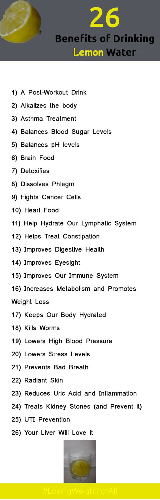 26 Benefits of Drinking Lemon Water