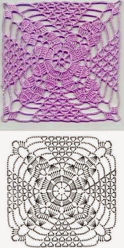 ♡ PequenaIv Artesanato ♡ : Squares Crochê - Com gráfico