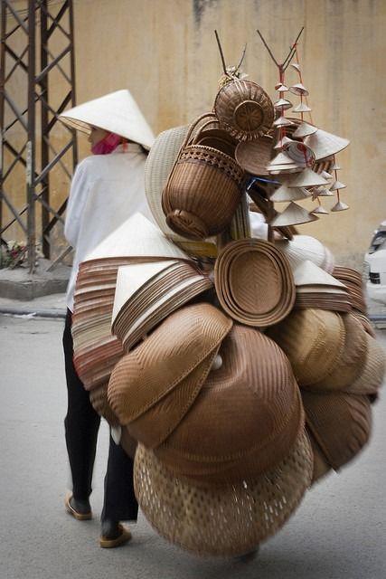 The Beautiful Art of Basket Making - pakse:  VietNam - #Handmade