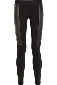 DKNY Leather-paneled stretch-jersey leggings | NET-A-PORTER   http://www.net-a-porter.com/product/363305