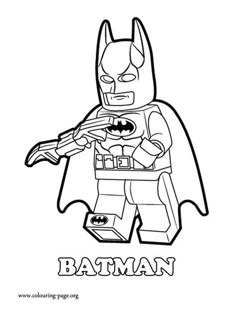 the lego movie batman a lego superhero coloring page - Superhero Coloring Pages