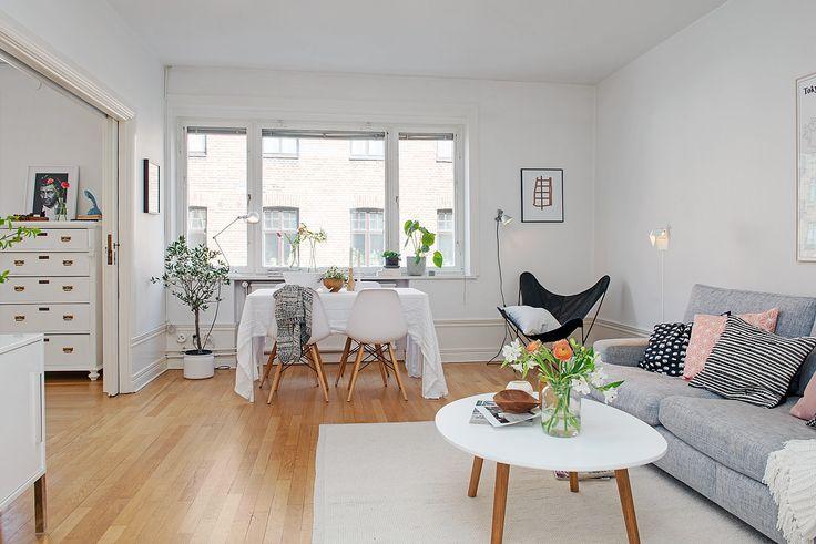 Шведский дизайн интерьера квартиры 71 кв. м.