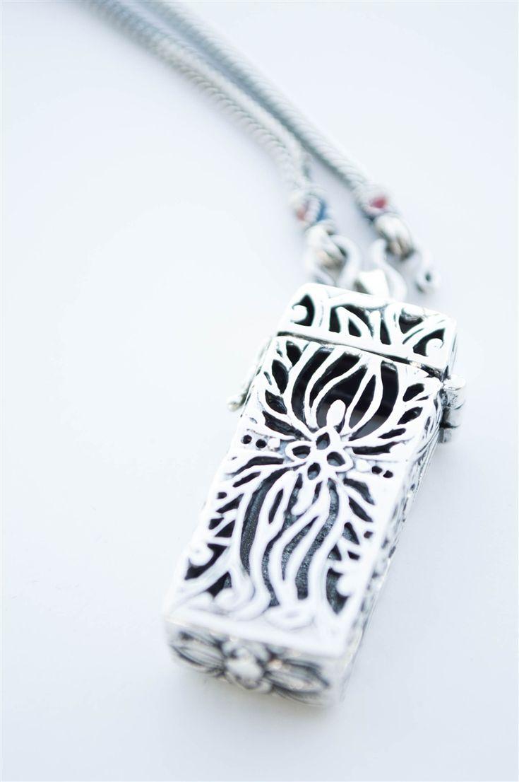Handmade silver jewelry. Unique Pendant for fitbit flex fitness tracker.