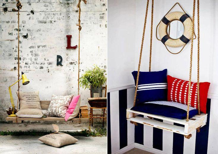 Качели из поддонов и паллет #мебель #паллеты #поддоны