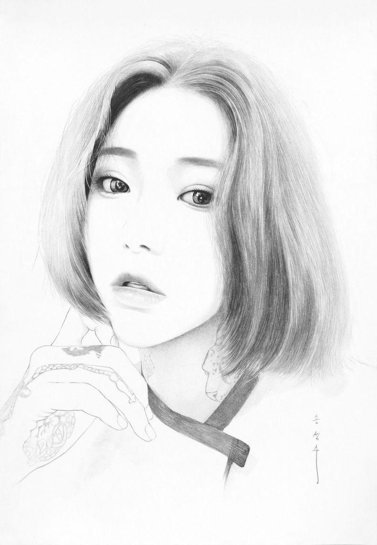 drawing / only sharp artist / sung su - song . korean / art , 인물화 / 샤프드로잉 , 샤프인물화 / 8절사이즈