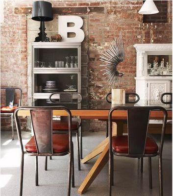 Love itExposed Bricks, Dining Room, Industrial Architecture, Design Bedroom, Industrial Interiors, Bricks Wall, Interiors Design, Book Design, Expo Bricks