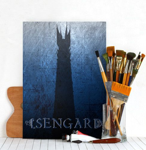 Isengard Tower Poster #tower #fantasy #wizard #movie #movieposter #isengard #dark #middle #earth #saruman #poster #homedecor #giftsforhim #giftsforher #cinema #cinephile #moviegifts #geek