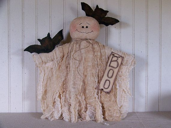 Primitive Country Halloween Ghost Doll