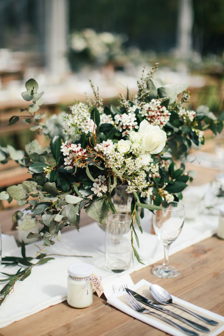 Elegant Rustic Floral Wedding Centrepiece // Photography - White Images