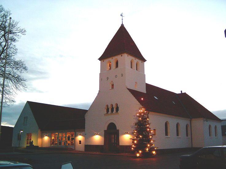 Bangsbostrand Church, Bangsbostrand kirke, Frederikshavn, Jylland, Denmark. Photo: Kurt Thorleif Jensen.