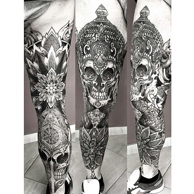 @orge_saketattoocrew |  #tattooguide  #tattooartist #findtattoos #inspiration #tattoo #blackwork #blacktattoo #dotwork #mandala #skulltattoo #skull #sleevetattoo #sleeve #ink #inkstagram #geometrictattoo #tattooinspiration #geometric #legtattoo #tattooist #bodyart #orgekalodimas #follow #share #saketattoocrew #amazingtattoos