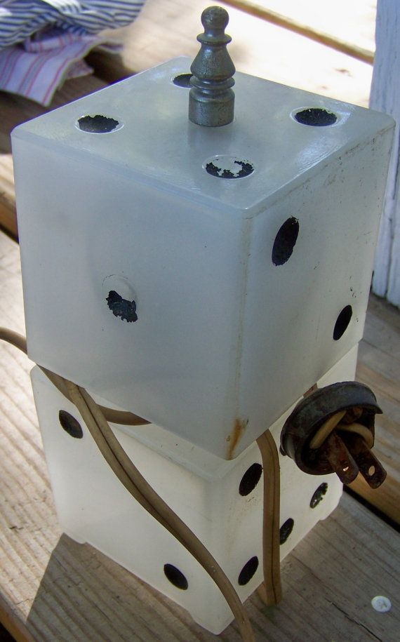 Vintage Carnival Prize Dice Lamp by flawd on Etsy