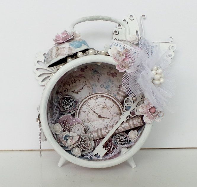 IngridG's Gallery: alarm clock *Maja Design*...Tim Holtz clock kit (Michael's carries these and gives a class on this!)