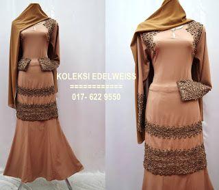 Baju Kurung Moden Coklat