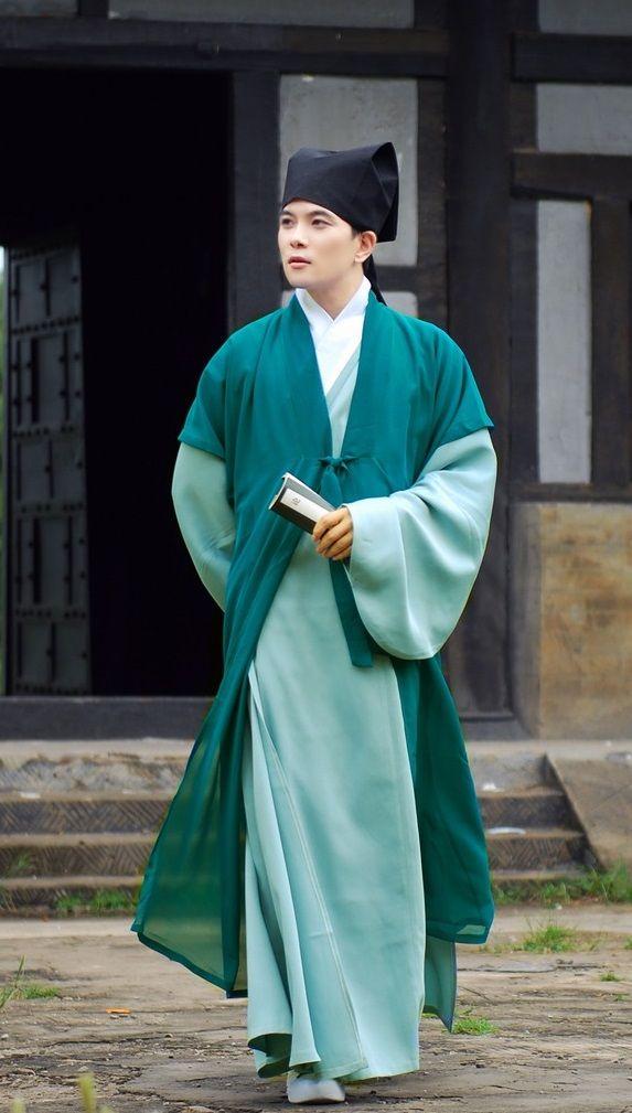 Costume Han clothing men's wear Hanfu male scholar Warrior clothing Warrior costumes photography photo of performance apparel