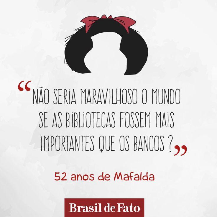 """""""Se você for fã dela, compartilhe aqui sua tirinha preferida :)"""" - Brasil de Fato no Twitter"""
