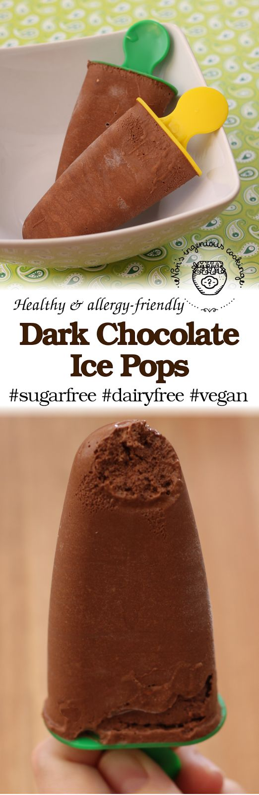 Nóri's ingenious cooking: Diet-friendly dark chocolate ice pops