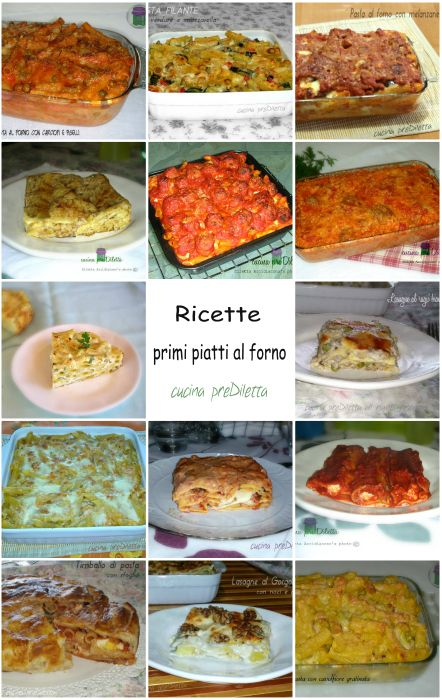 Ricette primi piatti cotti al forno - raccolta ricette, cucina preDiletta - pasta al forno - lasagne - cannelloni - riso al forno