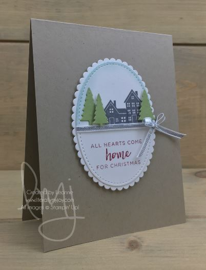 Come Home for Christmas | Stampin' Up! | Hearts Come Home #literallymyjoy #christmas #holiday #home #scenery #CAS #2017HolidayCatalog