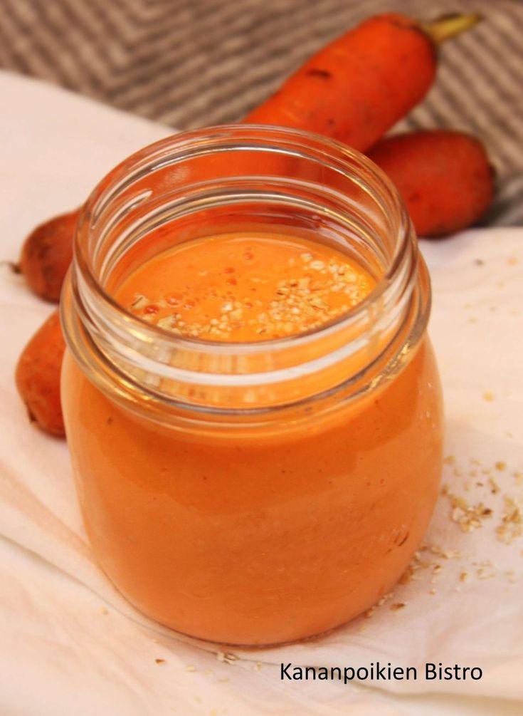 Meillä on viime päivinä taas rempattu ja rymsteerattu huoneita uuteen uskoon ja järjestykseen. Vanhassa talossa tämä puuha ei lopu varmaan koskaan, mutta onhan se myös virkistävää. Samalla tulee siivottua kaikkea turhaa pois. Huseerauksen lomassa piristää vitamiinipitoinen porkkanasmoothie, jossa on mukana myös muun muassa mangoa, tuorepuristettua appelsiinimehua ja inkivääriä! Ihanaa viikon alkua! Pirteä porkkanasmoothie 1 dl … Jatka lukemista Pirteä porkkanasmoothie →
