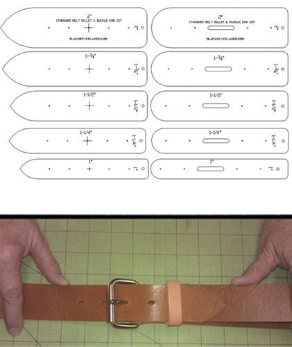 10-PIECE-BELT-ENDS-TEMPLATE-SET-IN-STANDARD-SIZES-FOR-LEATHER-CRAFT-SHOP-SET