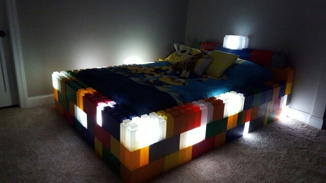 Kids Lego bed with night lights