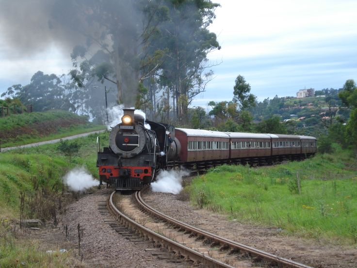"old railroad trains of south africa in photos | Wesley"" Class 19D No.2685 near Alvestone"