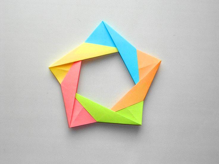 Оригами из бумаги радуга открытка