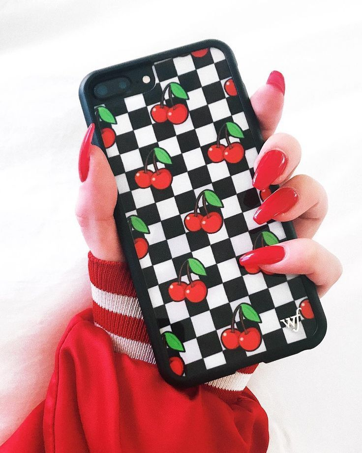 "NEW!! ""CHERRY CHECKERS"" for iPhone 6/7/8 & 6+/7+/8+ is IN STOCK and 20% OFF …"