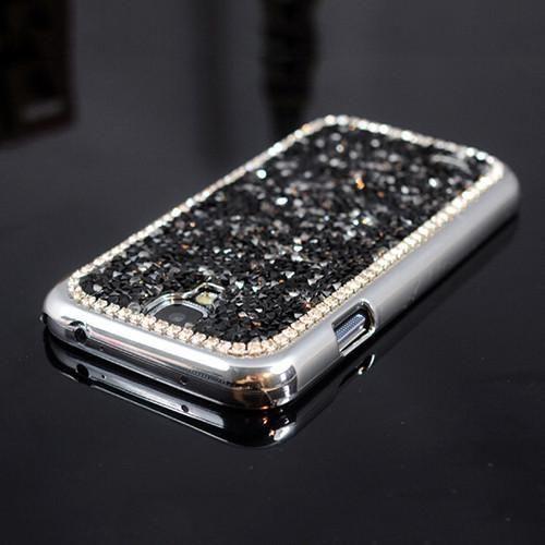 New Style Fashion 3D Hi-Q Luxury Bling Rhinestone diamond back cover pretty phone case for Samsung galaxy s4 IV i9500 PT6152