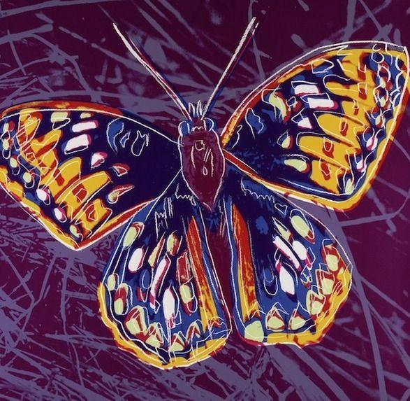 Butterfly  | Andy Warhol, Butterfly  (1983)