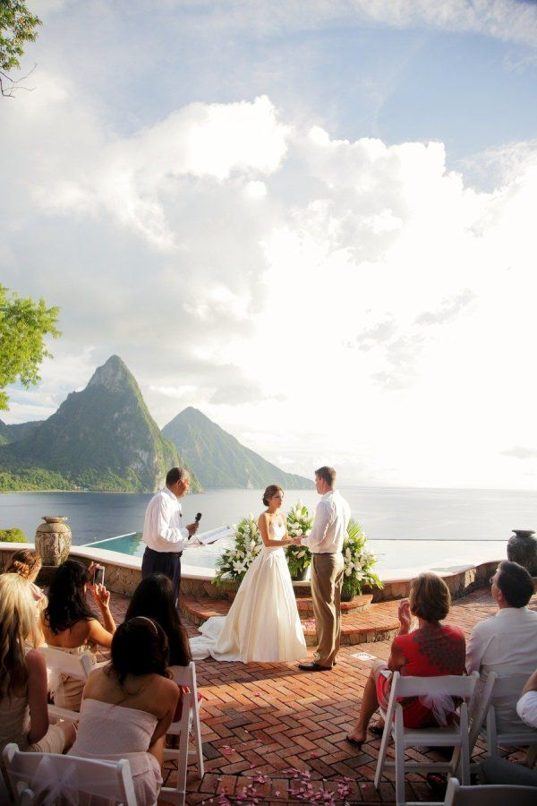 St. Lucia- If I say f it and do a destination wedding...