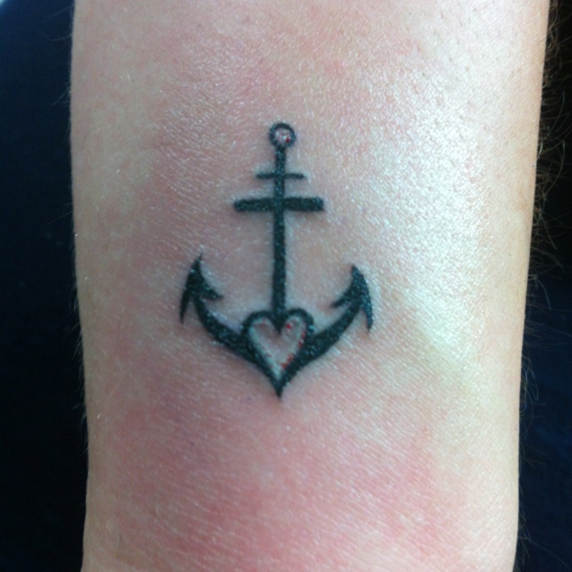 Living for today...  My anchor tattoo symbolizes my settling down. I just got married not too long ago and I am very happy. He means the world to me and I wanted this as a reminder of how blessed I am to have him. Life is too short, so I'm living my life the way I want it, not how others think I should.