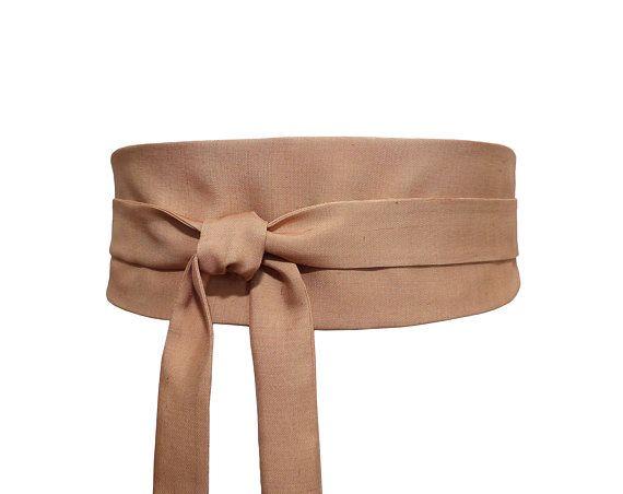 d7f04234bca Polina Couture - Ceinture Obi Soie Beige Camel Caramel