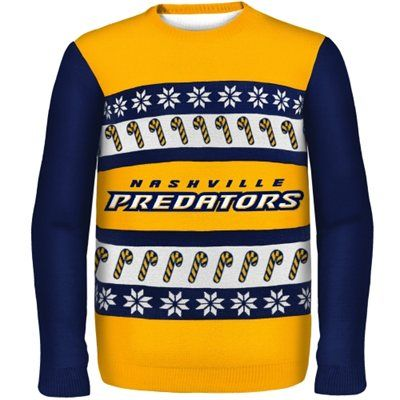 BLUES UGLY SWEATER (WEST COUNTY JCP) SIZE MEDIUM Nashville Predators One Too Many Ugly Sweater