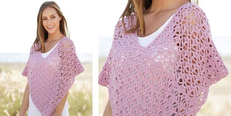 Arabella Crocheted Lace Poncho [FREE Crochet Pattern]