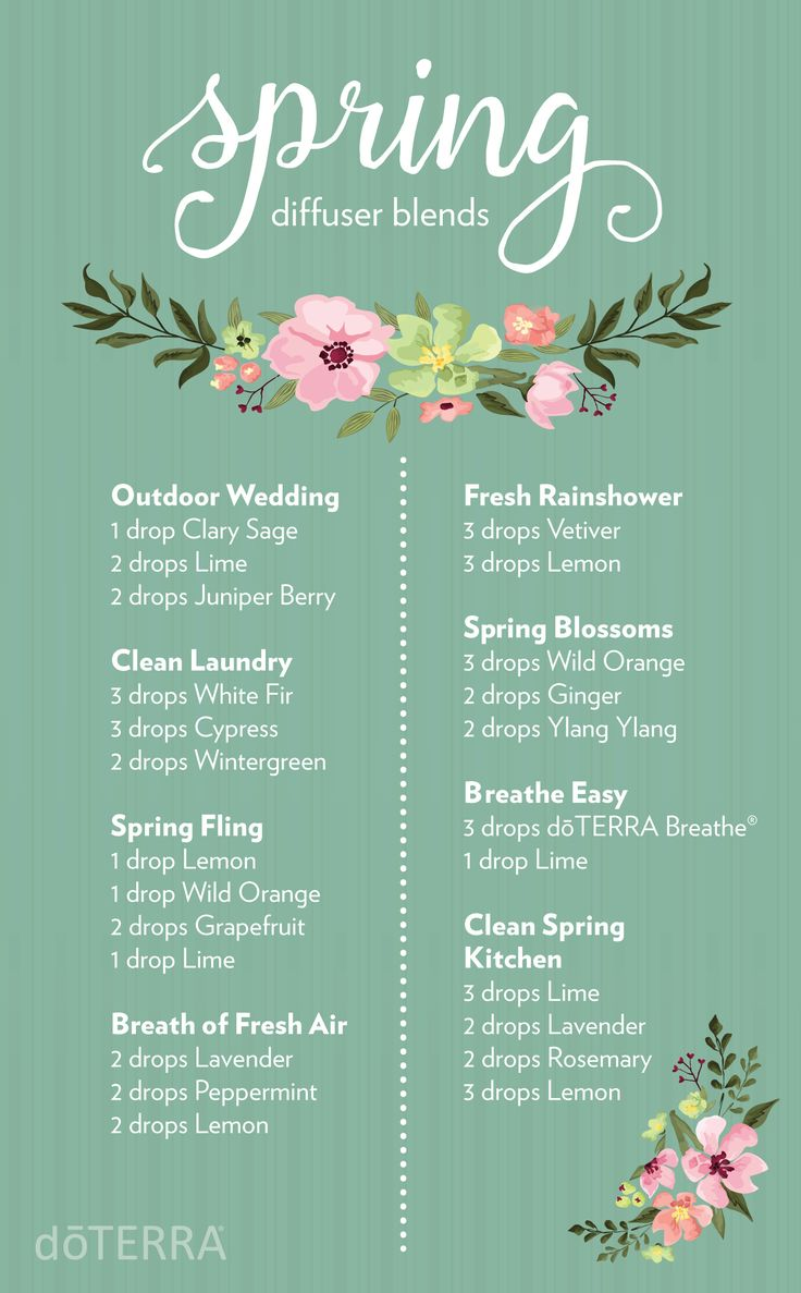 Today is officially the first day of spring! Celebrate with these irresistible doTERRA diffuser blends.