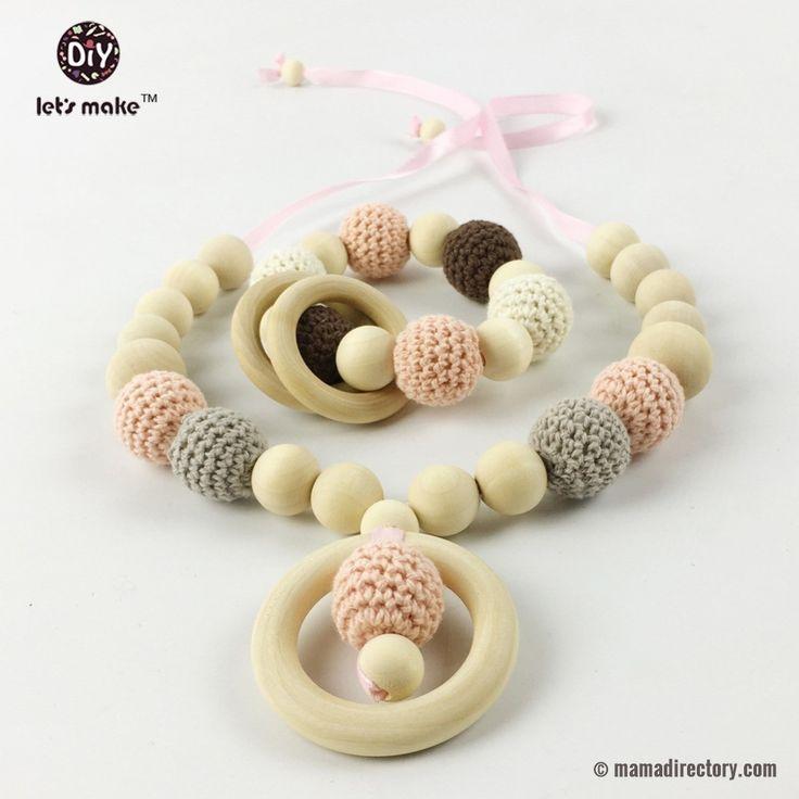 baby nursing necklace/ teething beads