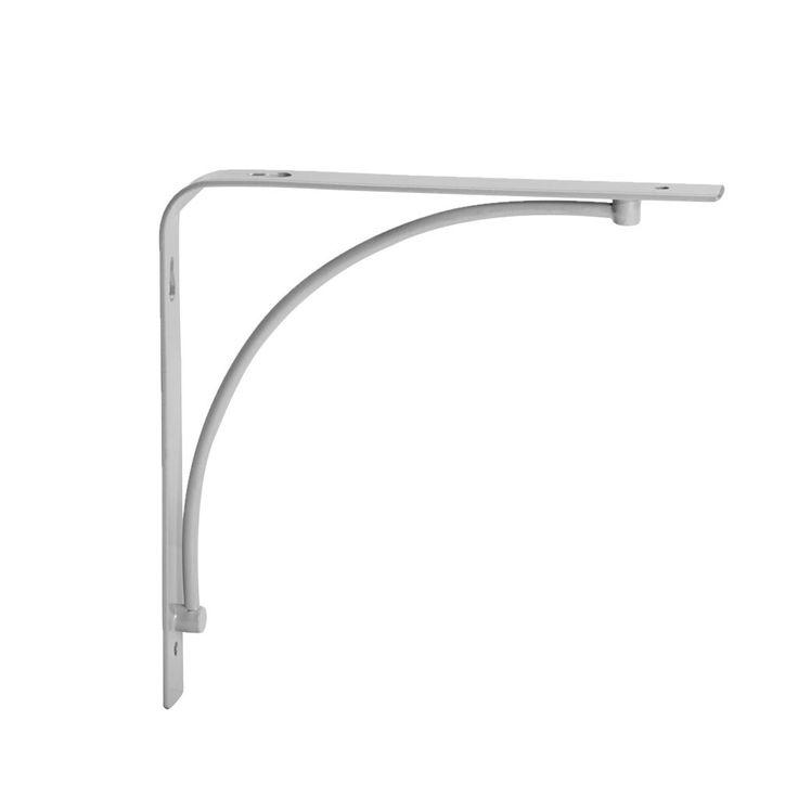 Starten till praktisk väggförvaring är en hyllkonsol! Denna variant är både enkel och snygg och kommer med konkav design. Tillverkad av pulverlackerat stål med grå finish. Skruvar och pluggar säljs separat.