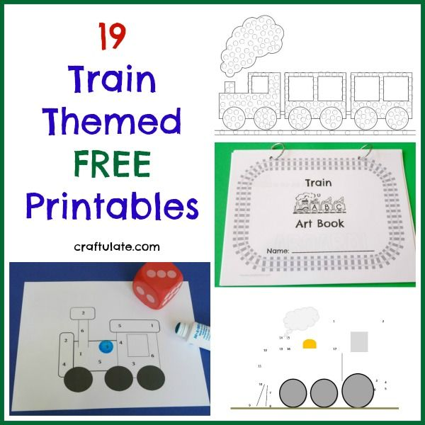 Get loads of free printables for your kids that have a train theme!