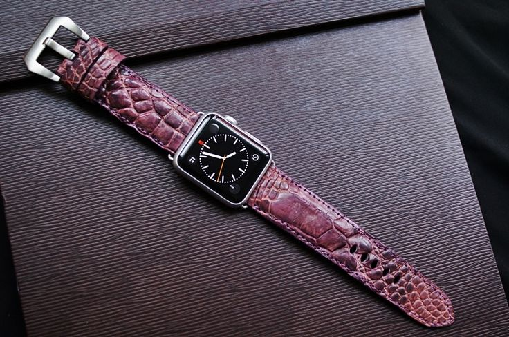 Crocodile Belly Leather Watch Strap for Big Watch or Apple Watch 1 and 2  100% Handmade  @panerai_singapore @panerai_asia #pamclubasia #PAMClubAsia #officinepanerai #radiomir #luminor #eightdays #simplictyofinnovation #florence #italy #italiannavy #timesquare